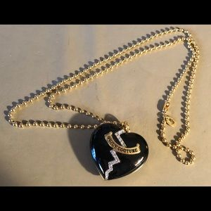 Juicy Couture Lip Gloss Heart Necklace -retired